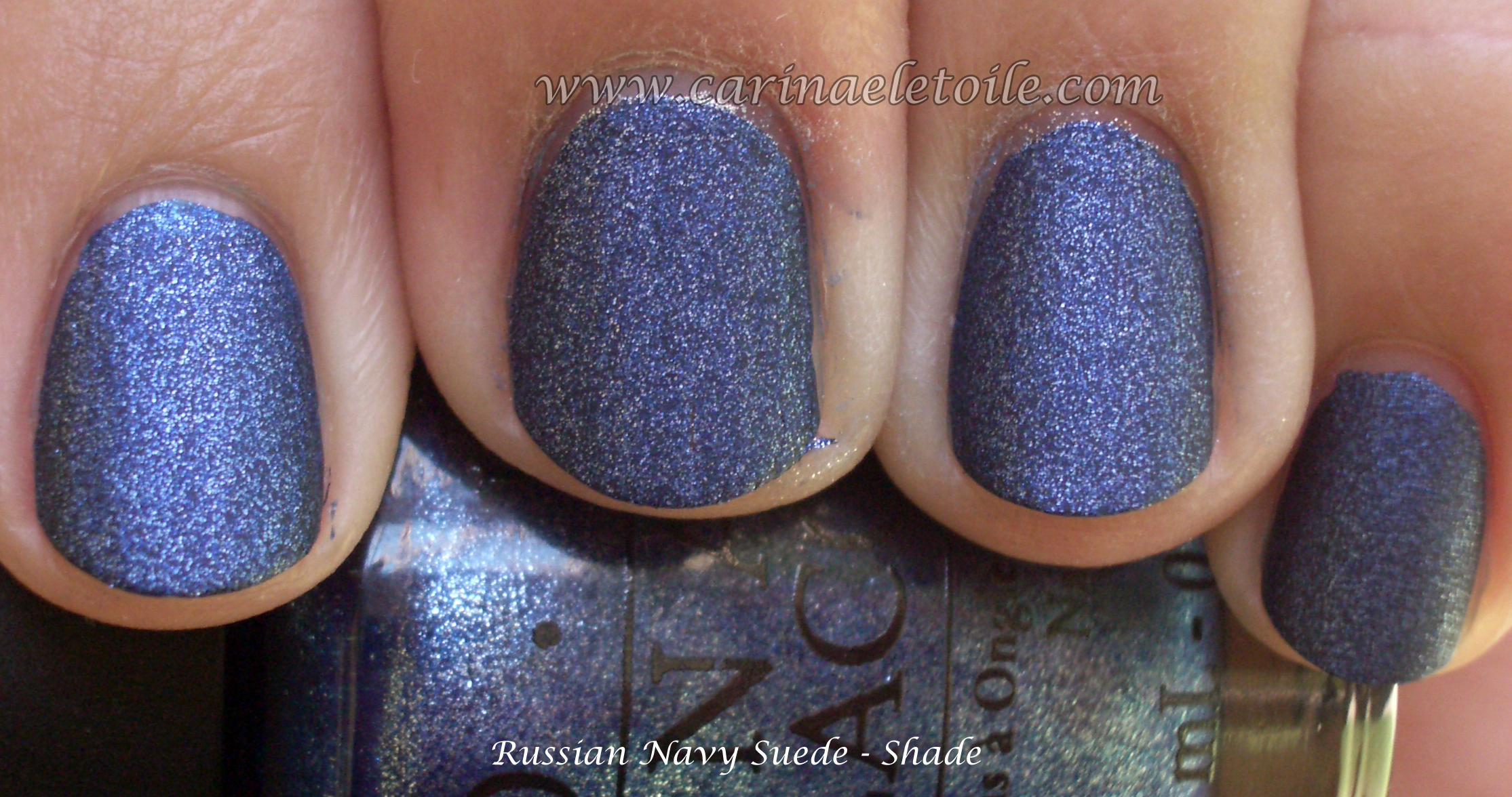 OPI Russian Navy Suede Shade | Carinae L\'etoile\'s polish stash