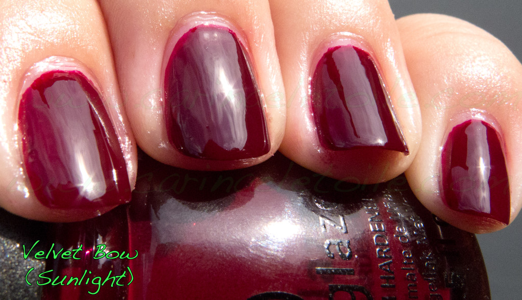 China Glaze Velvet Bow