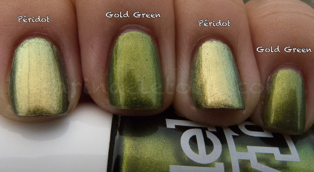 Chanel Peridot vs Models Own Gold Green