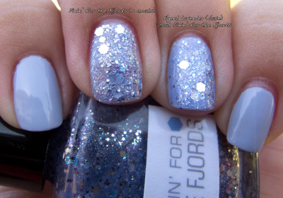 China Glaze Agent Lavender and Nerd Lacquer Pinin for the FJords Shade