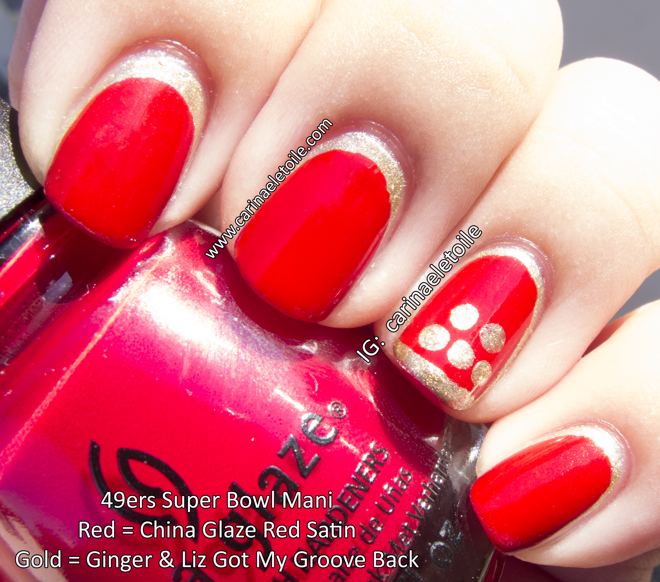 49ers Super Bowl Mani - Feb 3, 2013