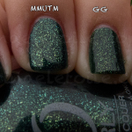 Comparison – China Glaze Glittering Garland vs Orly Meet Me Under The Mistletoe