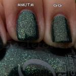 Comparison – China Glaze Glittering Garland vs Orly Meet Me Under The Mistletoe