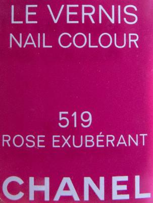 Chanel Rose Exuberant