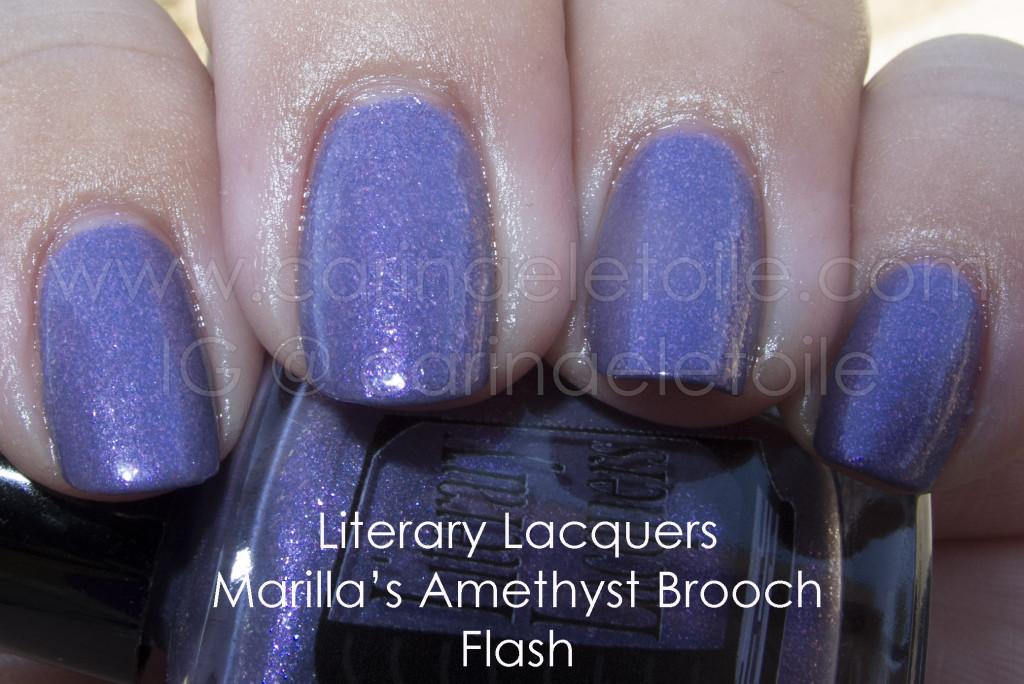 Literary Lacquers Marilla's Amethyst Brooch
