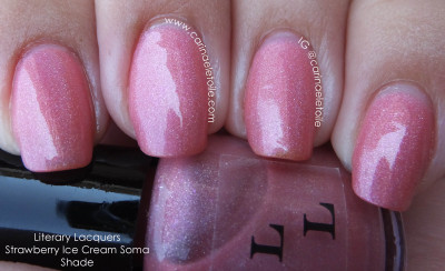 Literary Lacquers Strawberry Ice Cream Soma