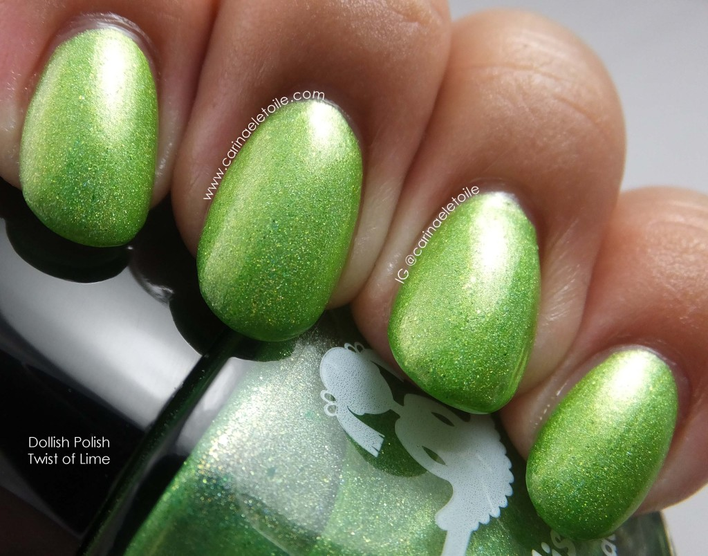 Dollish Polish Twist of Lime Diffused Light