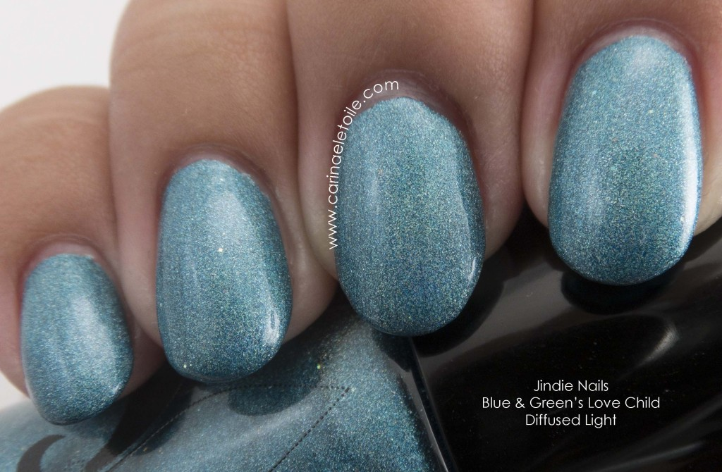Jindie Nails Blue & Green's Love Child Diffused Light