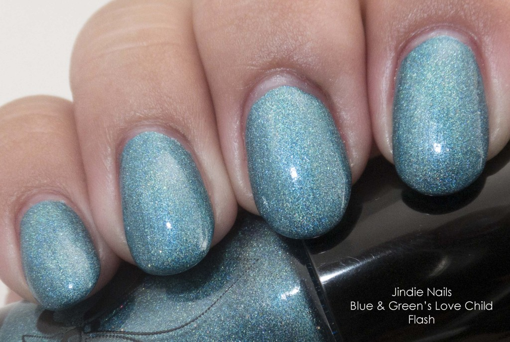 Jindie Nails Blue & Green's Love Child Flash