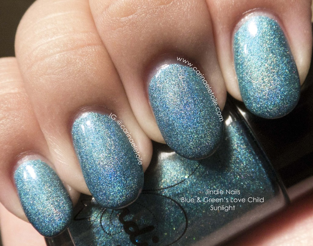 Jindie Nails Blue & Green's Love Child Sunlight