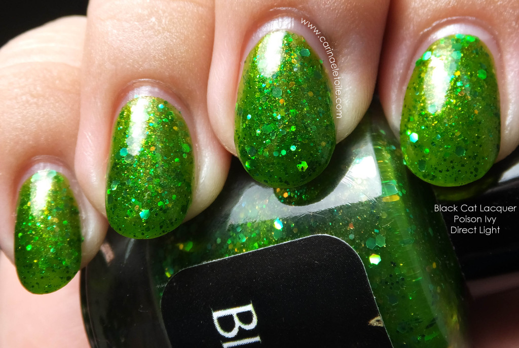 Black Cat Lacquer Poison Ivy Direct Light