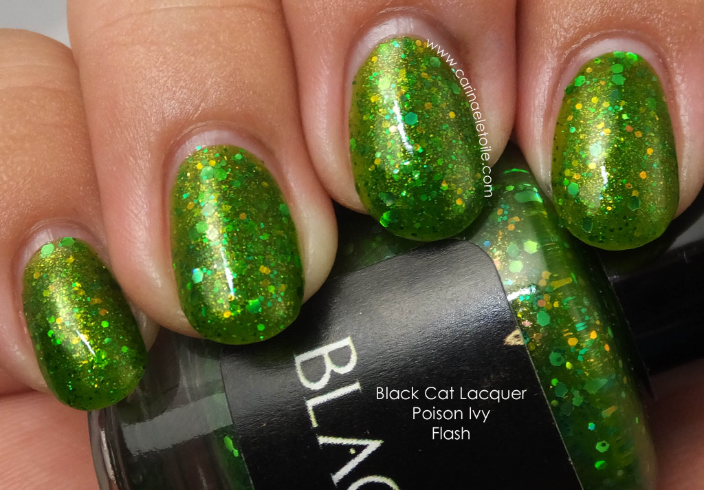Black Cat Lacquer Poison Ivy Flash