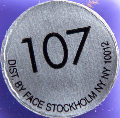 Face Stockholm 107 label