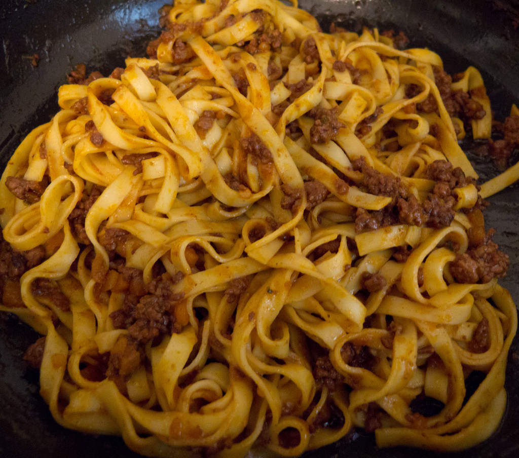 pasta marriage of sauce and ragu