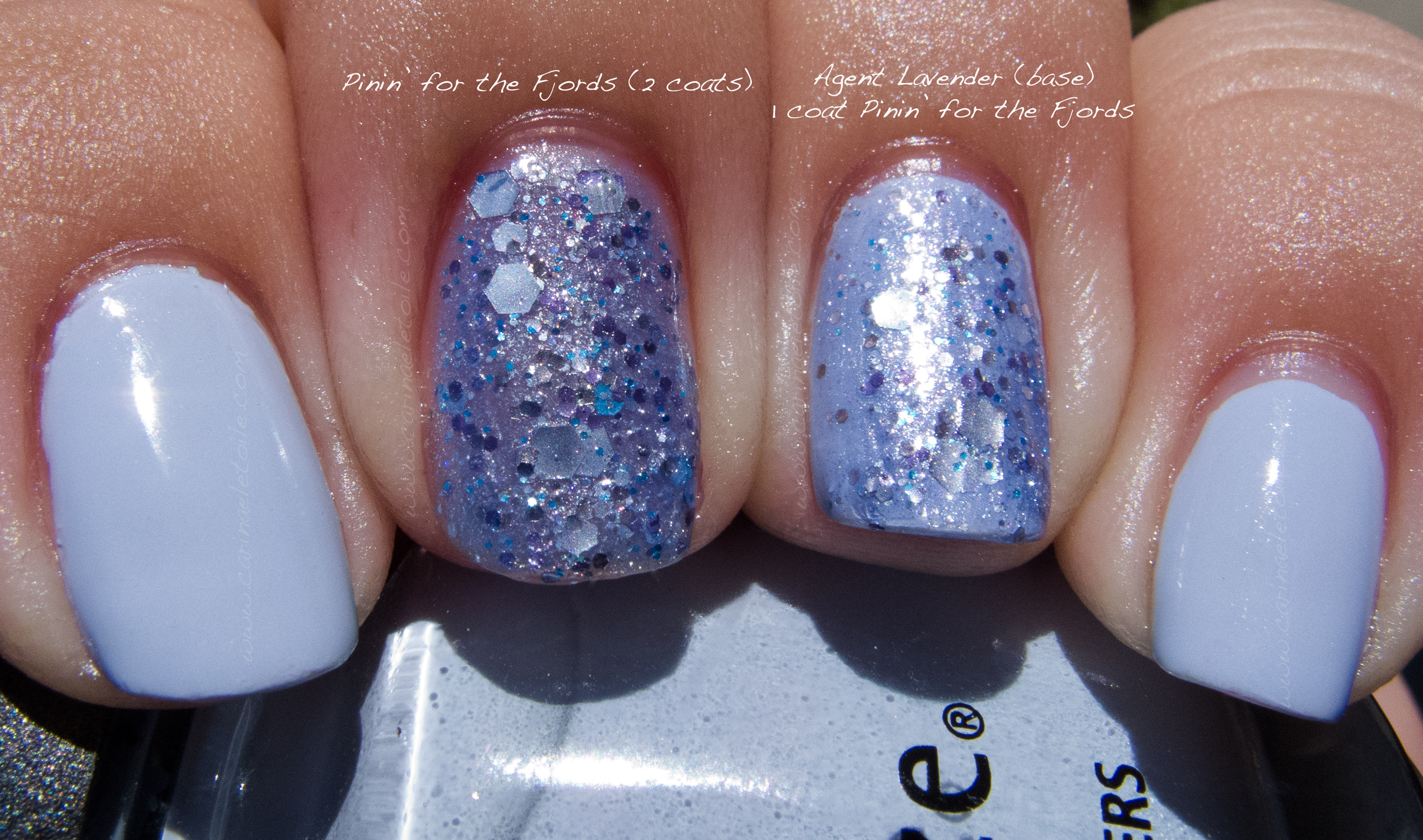 China Glaze Agent Lavender and Nerd Lacquer Pinin for the FJords Sun